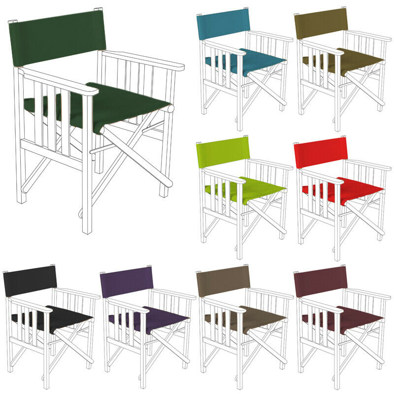 Directors Chair Replacement Waterproof Canvas Covers in 6 Colours Garden Outd