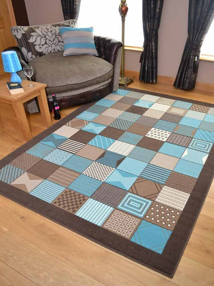 Teal blue pattern small extra large floor carpets rugs for Cheap carpets and rugs