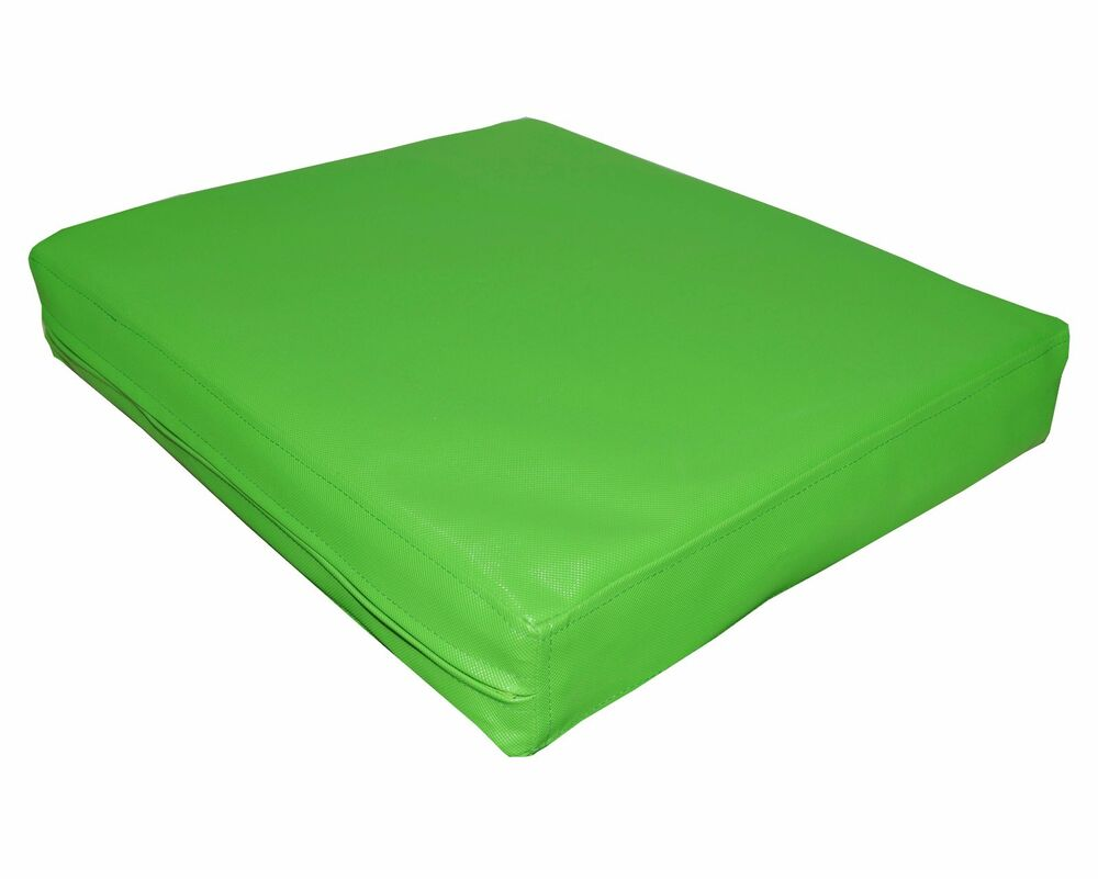pa810t Lime Water Proof Outdoor PVC 3D Box Sofa Seat Cushion Cover Custom Siz