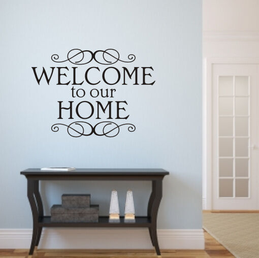 Welcome to our home wall art sticker h569k ebay for Home decorations on ebay