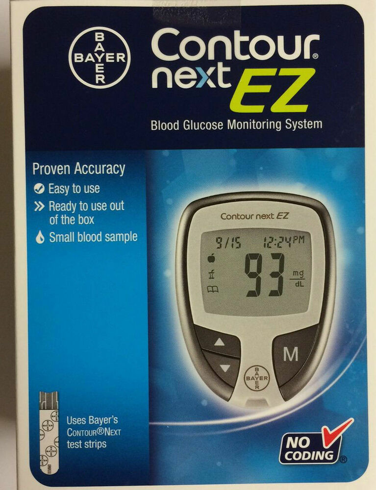 Bayer Contour Next Ez Blood Glucose Meter Kit 301939628014