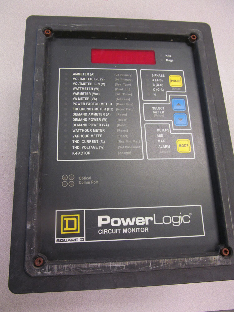 Square d power logic monitor class 3020 cm 2350 with 10m for Square d motor logic