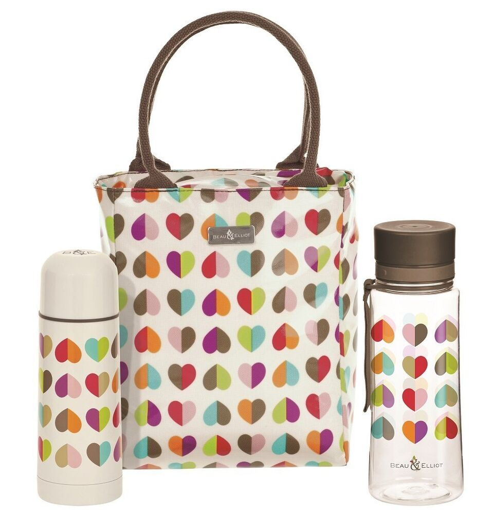 Insulated Beau Amp Elliott Lunch Tote Bag Water Bottle