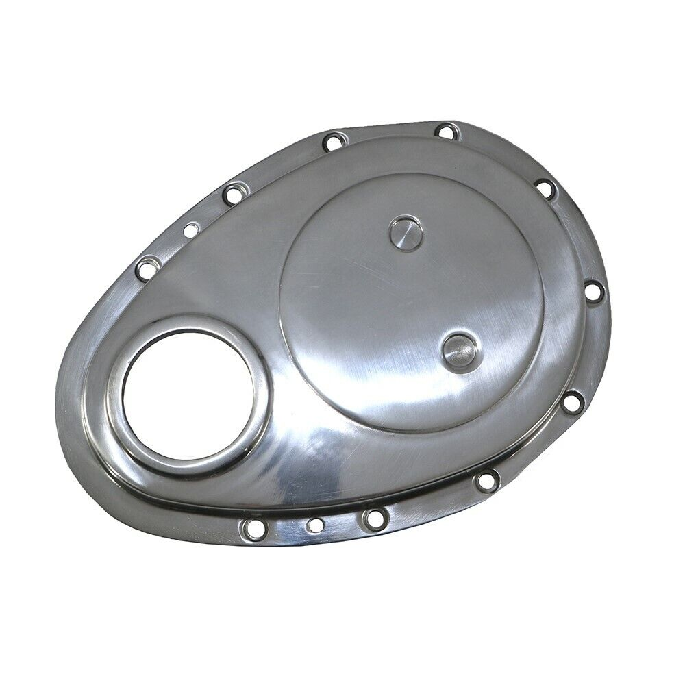 Chevrolet Performance 12562818 Timing Chain Cover: Chevy Small Block Timing Cover Polished Aluminum 1955-1995