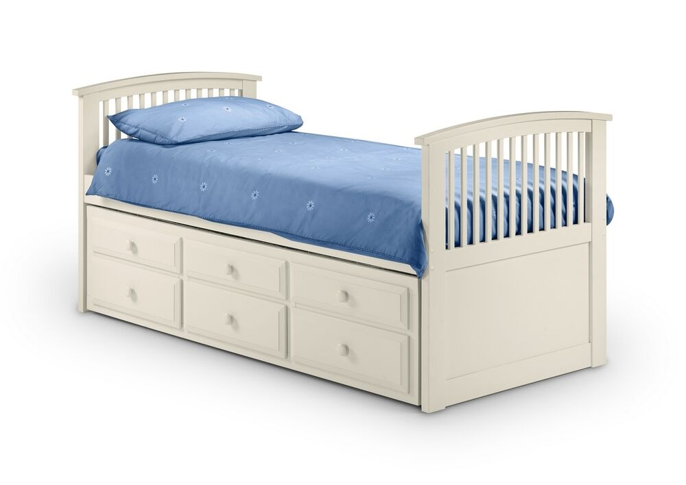 3ft nautical style cabin bed with 3ft pull out trundle bed