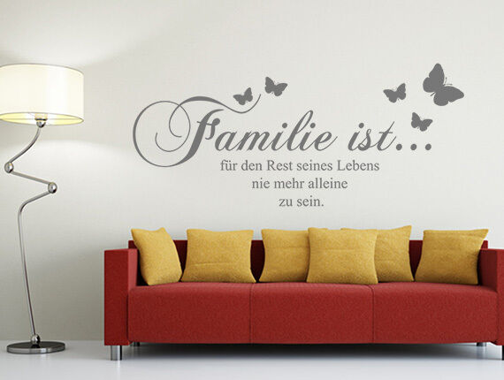wandtattoo spr che familie ist f r den rest seines lebens wand tattoos sticker ebay. Black Bedroom Furniture Sets. Home Design Ideas