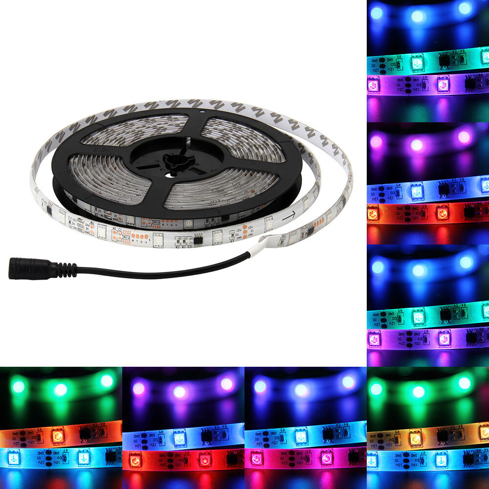 5m waterproof 5050 rgb 150led color changing 6803 ic led strip light ebay. Black Bedroom Furniture Sets. Home Design Ideas