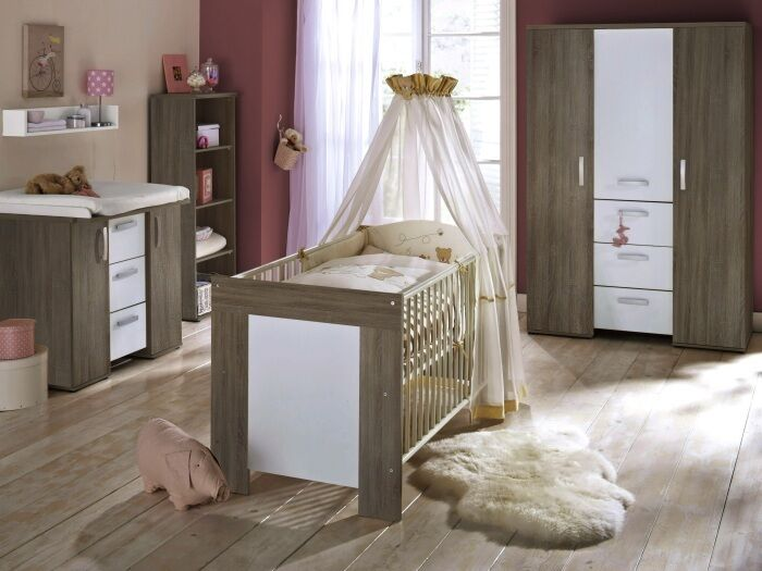 top angebot 6tlg babyzimmer kinderzimmer bett. Black Bedroom Furniture Sets. Home Design Ideas