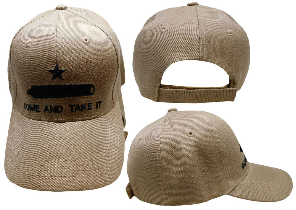 Embroidered Acrylic Khaki Texas Gonzales Come And Take It
