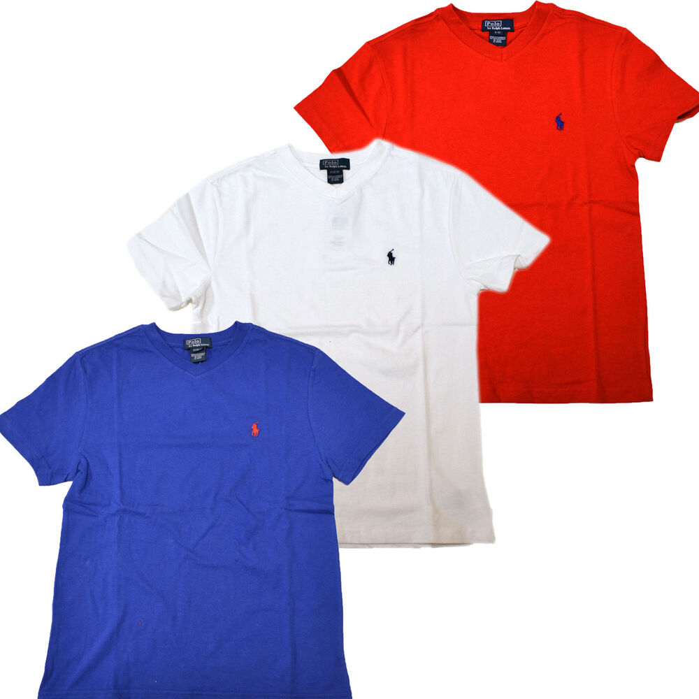 Polo ralph lauren boys t shirt v neck classic tee kids for Ralph lauren kids