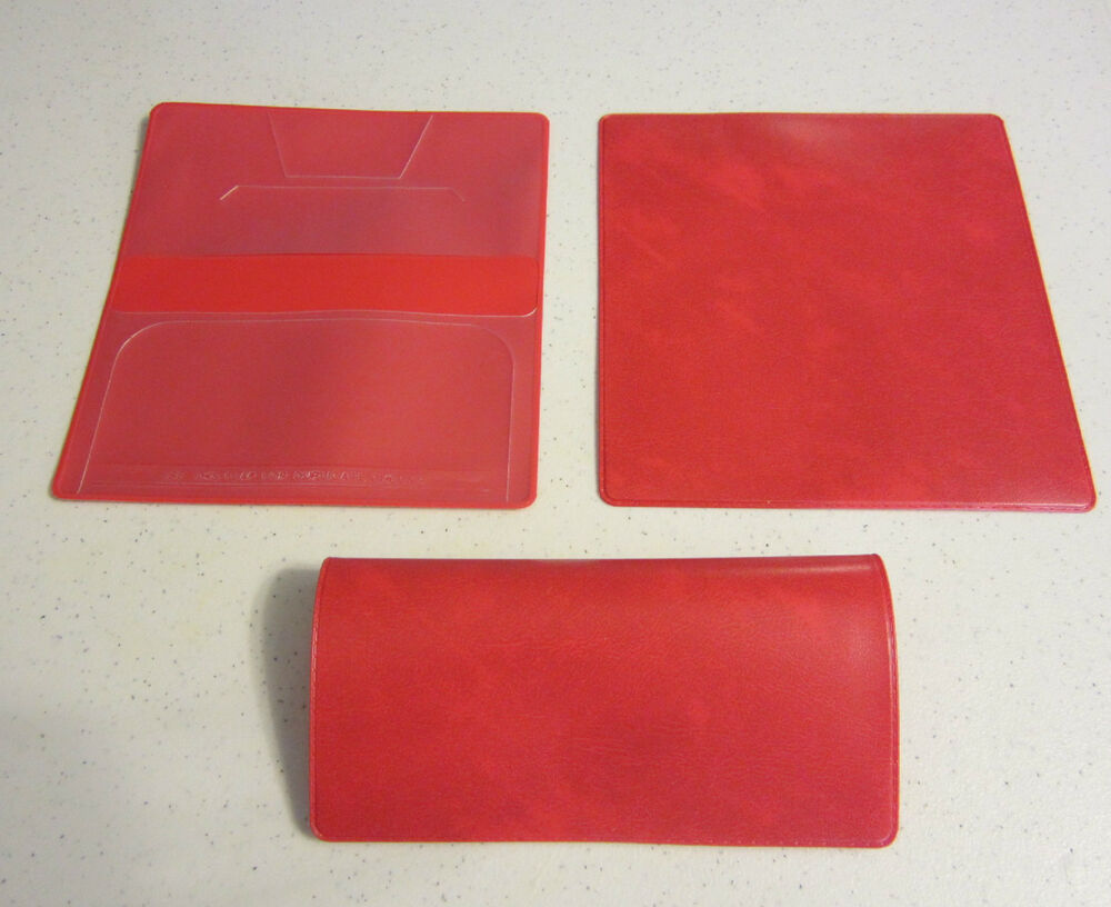 Cookbook Red Checkered Cover ~ New red marble vinyl checkbook cover with duplicate flap