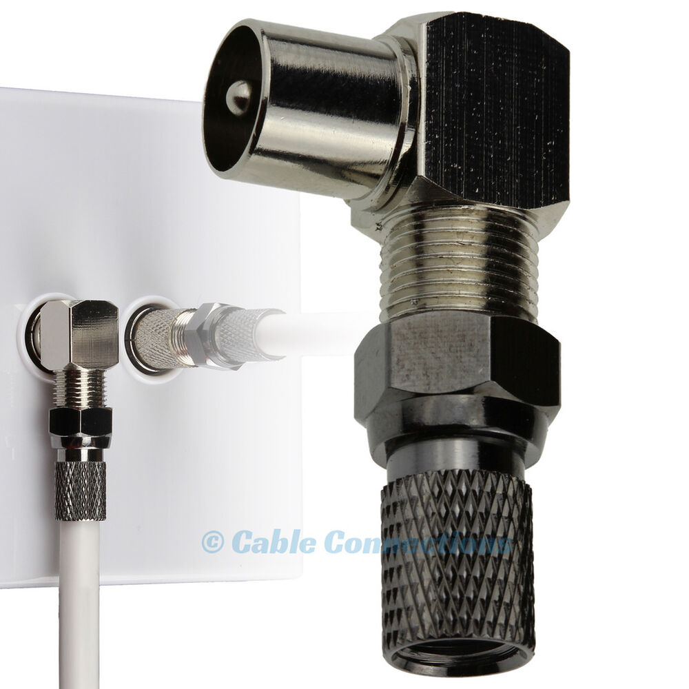 F Connector Cable : Degree tv plug coax coaxial right angle f connector