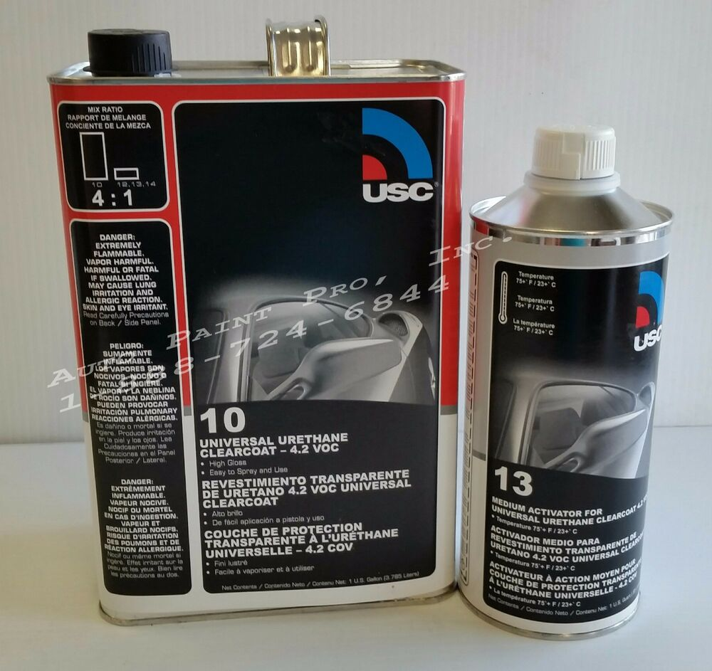 Urethane high gloss usc 10 1 clear coat auto body shop for Automotive paint suppliers