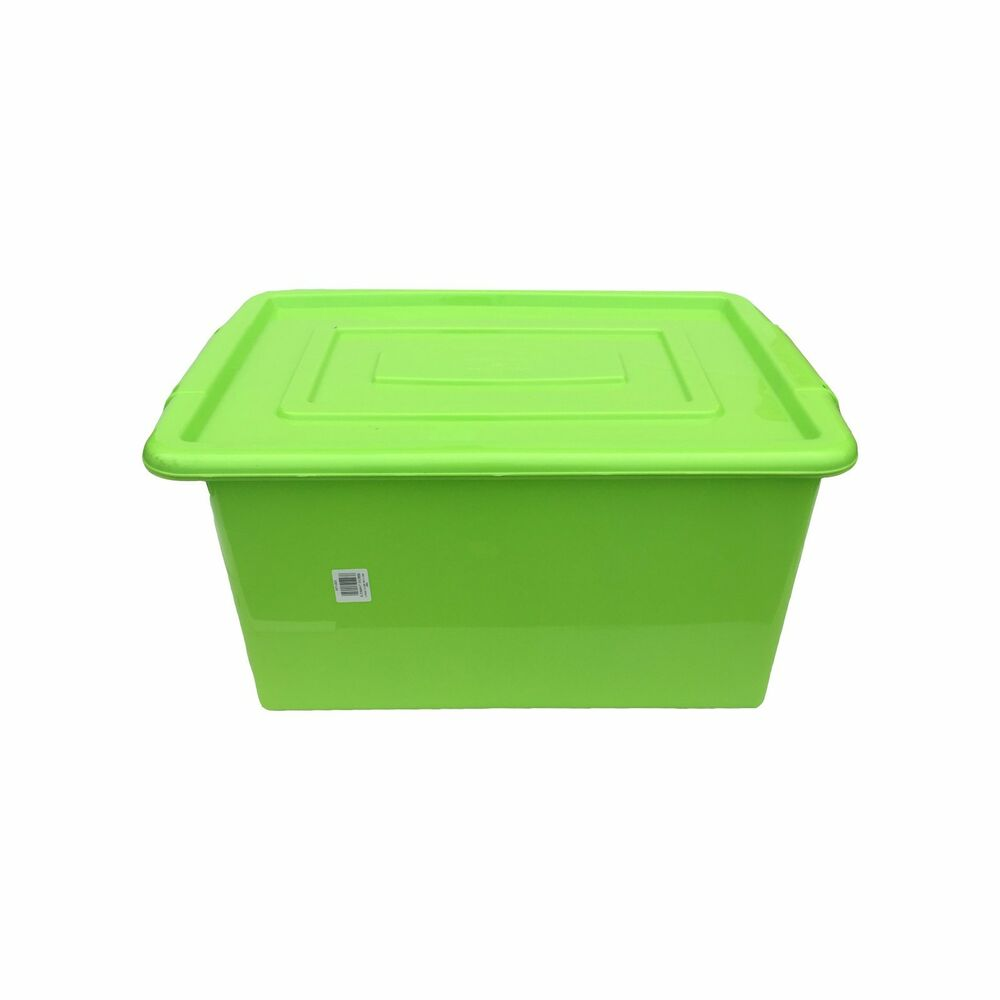 ... 32L LITRE STORAGE BOX TUB CONTAINER WITH LID TOY BOX KIDS | eBay