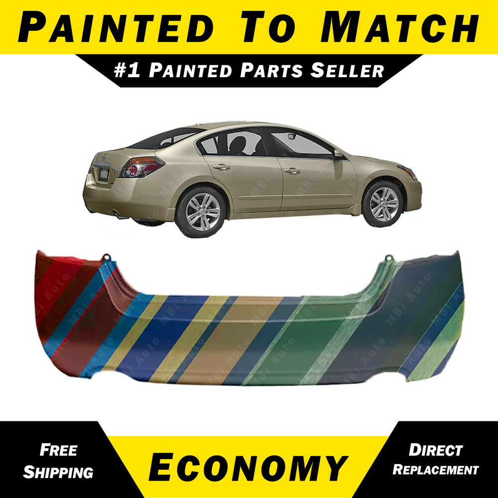 New Painted To Match Rear Bumper Cover For 2007 2012 Nissan Altima Sedan Hybrid Ebay