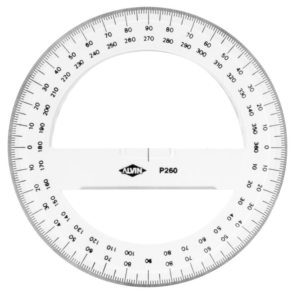 Geeky image with 360 degree protractor printable