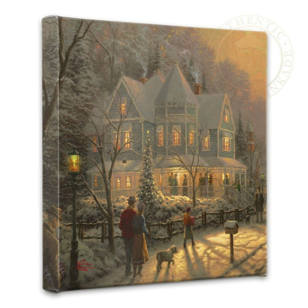 """Wrapped Canvas: Holiday Gathering 14"""" X 14"""" Gallery"""