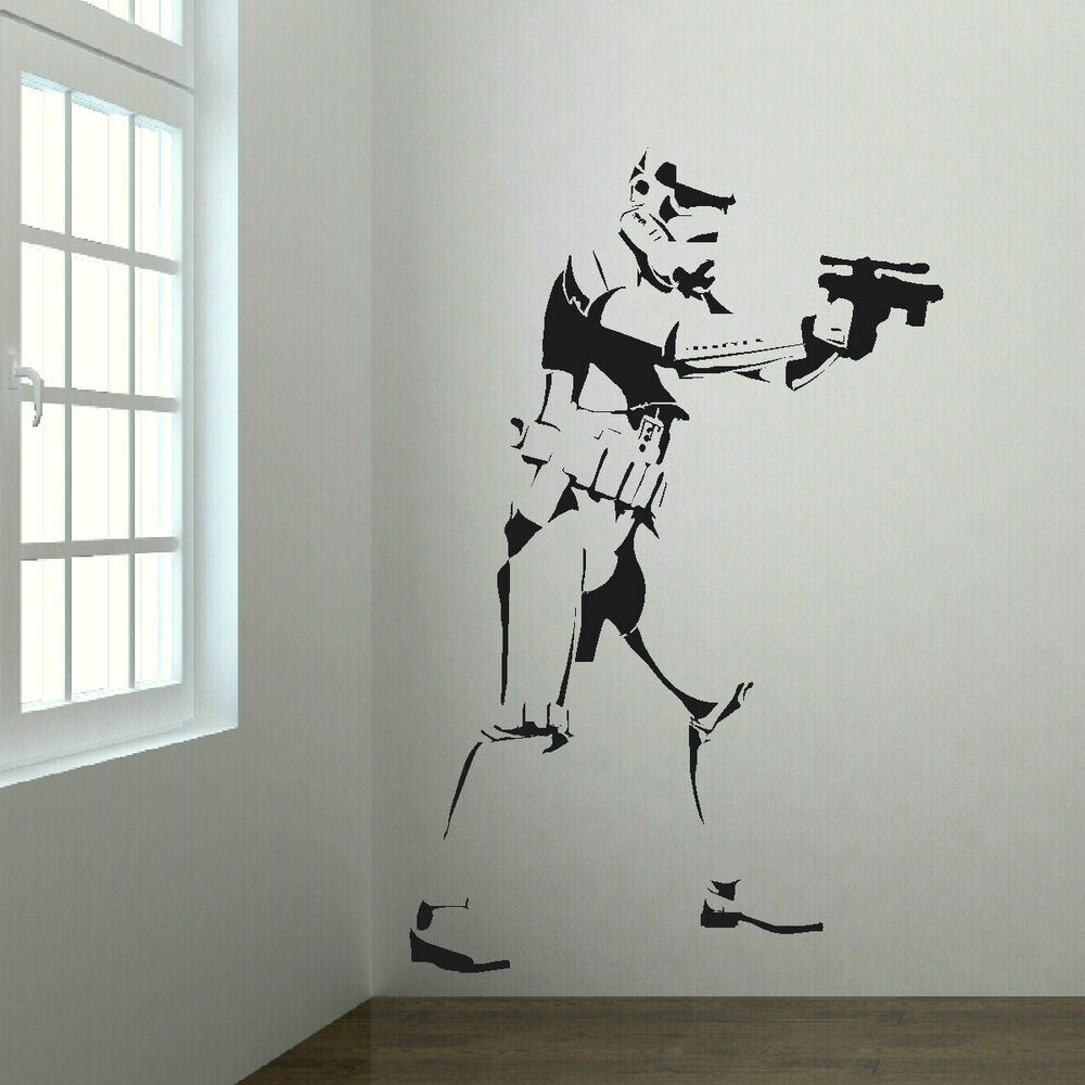 extra large wall sticker storm trooper starwars life size large map of the uk wall stickers wall stickers from fads
