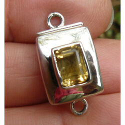 Sterling Silver Magnetic Box Clasp Single Strand Faceted Citrine Gemstone