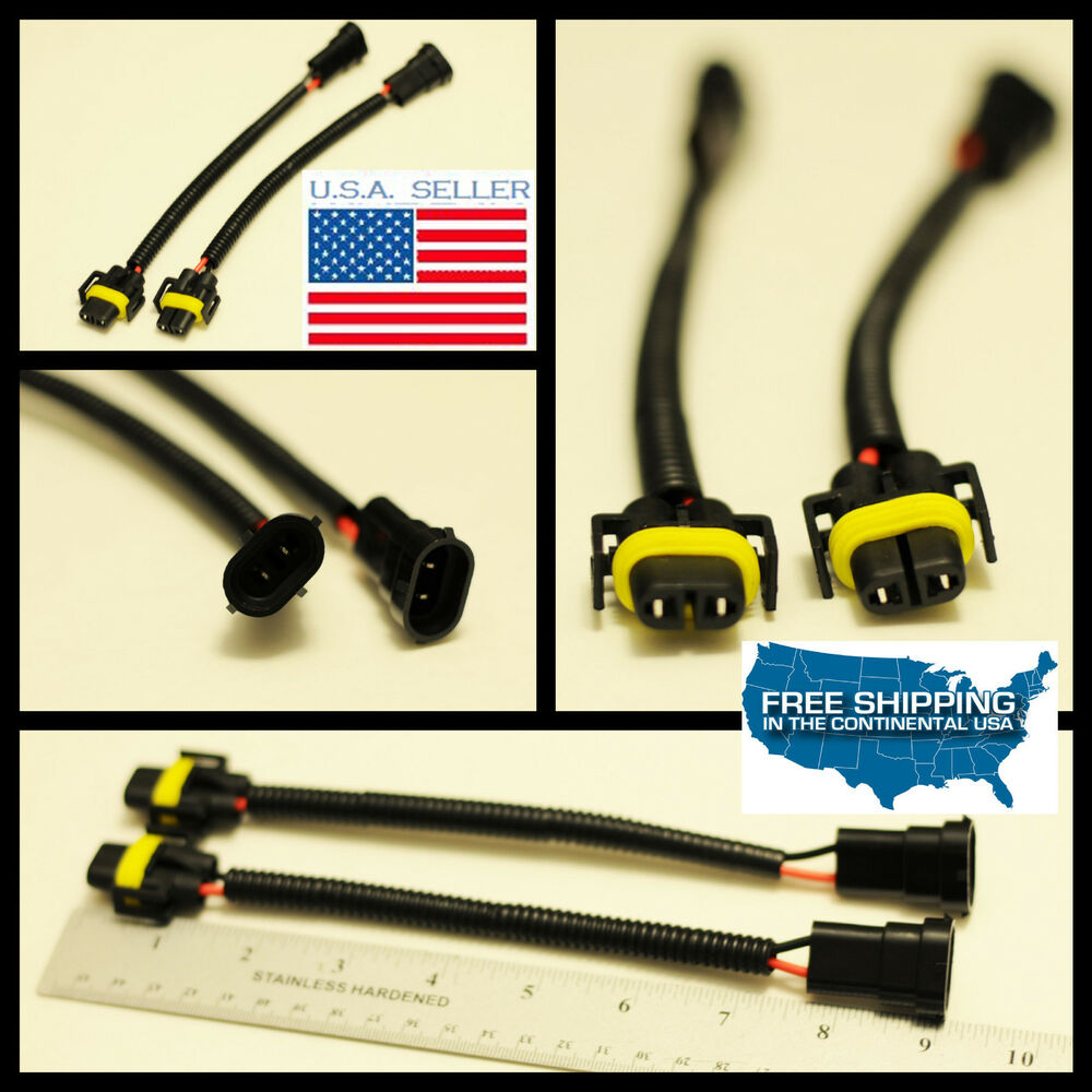 h11 to h8 wiring harness socket wire connector plugs extension cable ebay