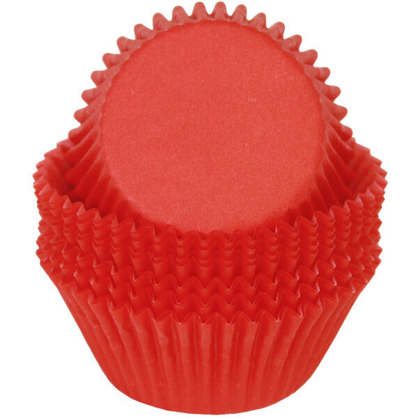 Red solid color glassine cupcake liners 50 ct for Liner diametre 4 50