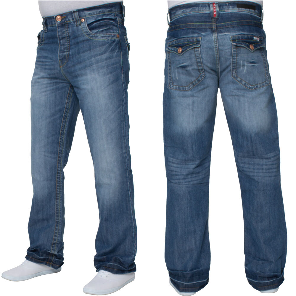 bnwt mens light blue bootcut jeans waist size 28 30 32 34 36 38 40 42 44 apt 42 ebay. Black Bedroom Furniture Sets. Home Design Ideas