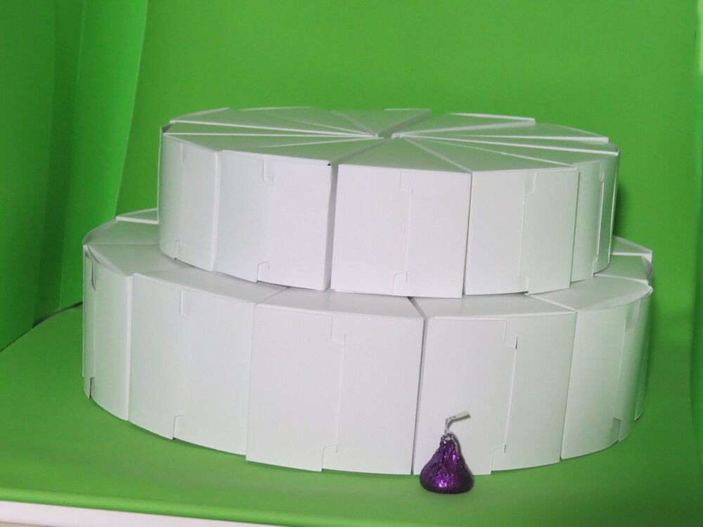 cake boxes for wedding cake slices 2 tier cake slice centerpeice favor boxes 13 2 8 quot amp 10 1 2188