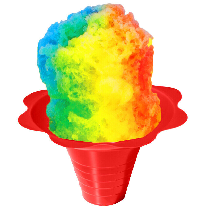 shaved ice flower cup