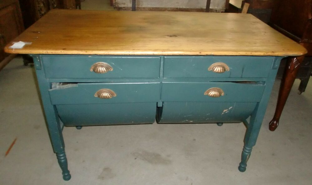 - Antique Old Finish Possum Belly Baker Table Cabinet EBay