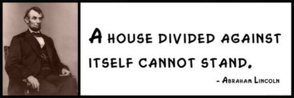 a house divided against itself cannot stand essay House divided speech a house divided against itself cannot stand i believe this government cannot endure, permanently half slave and half free that argument was incorporated into the nebraska bill itself, in the language which follows.