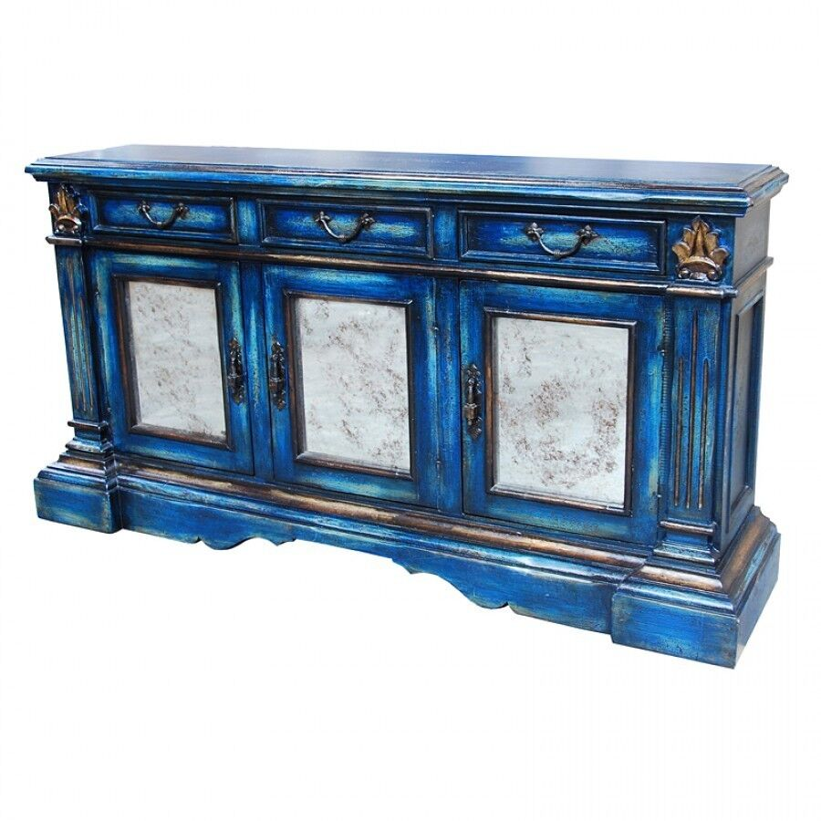Distressed Wood Buffet ~ Quot w buffet sideboard blue distressed reclaimed wood