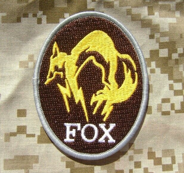 METAL GEAR SOLID FOX HOUND LOGO BADGE PS4 XBOX SPECIAL ...
