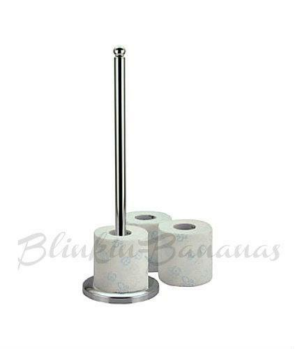 Spare Paper Loo Toilet Roll Holder Storage Spike Pole