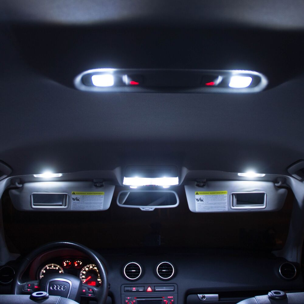 audi a3 a4 led xenon white interior lights bulbs kit canbus error free ebay. Black Bedroom Furniture Sets. Home Design Ideas