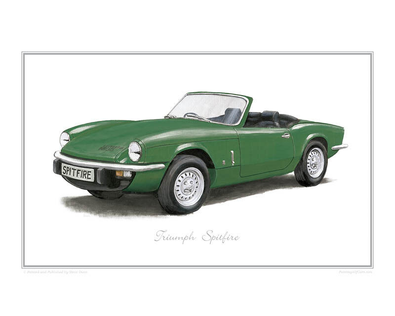 Triumph Spitfire green - Limited Edition Classic Car Print Poster by ...