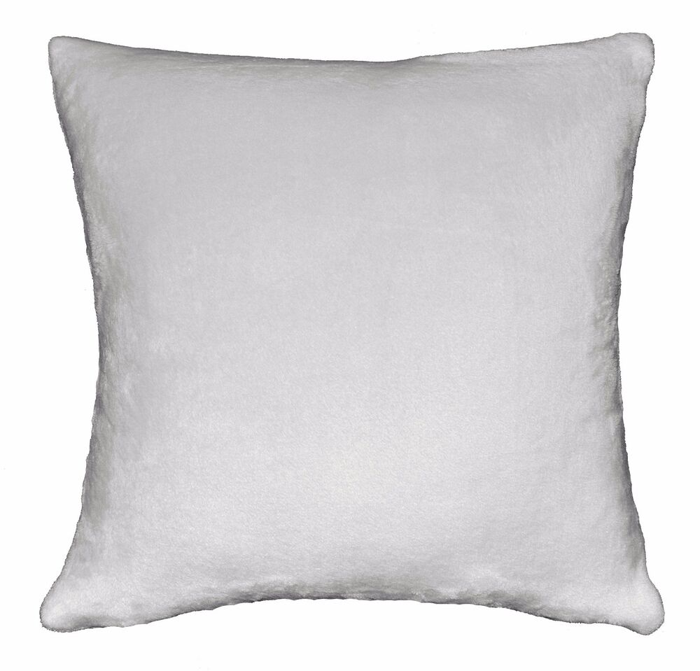 fa28a ash gray soft fleece plain color cushion cover pillow case custom size ebay. Black Bedroom Furniture Sets. Home Design Ideas