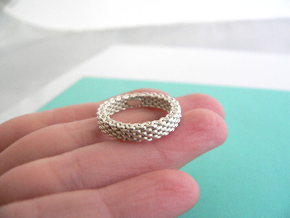 Tiffany And Co Silver Mesh Ring