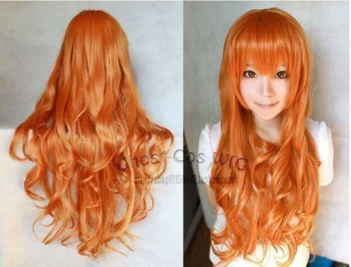 Hot New One Piece Nami Fashion Long Orange Red Cosplay