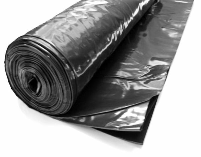 Heavy Duty Black Polythene Plastic Sheeting 4m Wide Dpm