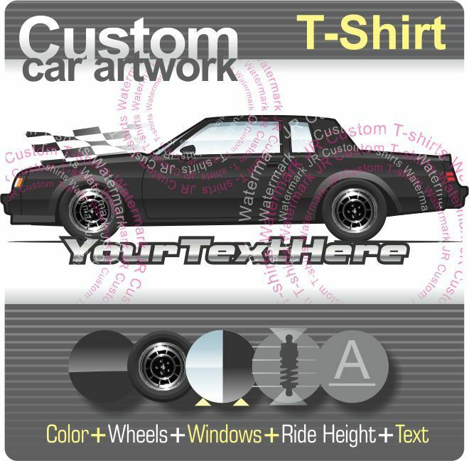 Buick Regal T Type For Sale: Custom T-shirt For 81-86 87 Buick Regal T-type GNX Grand