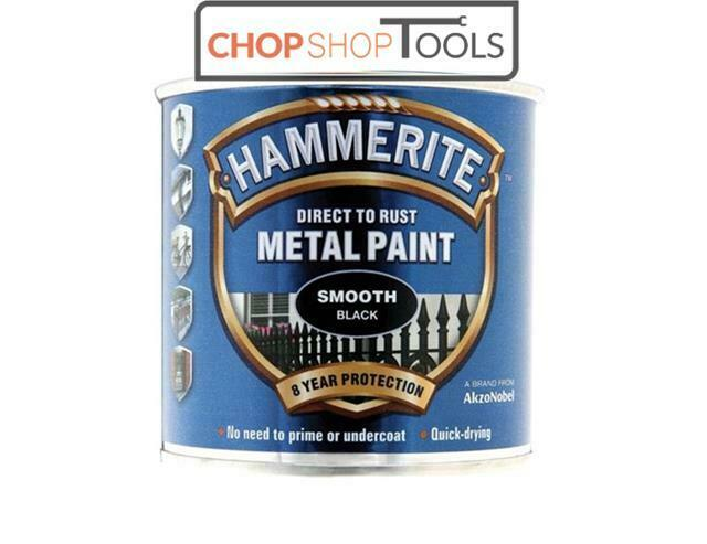 Hammerite Metal Paint Smooth Black 250ml Direct To Rust 8 Year Protection Ebay