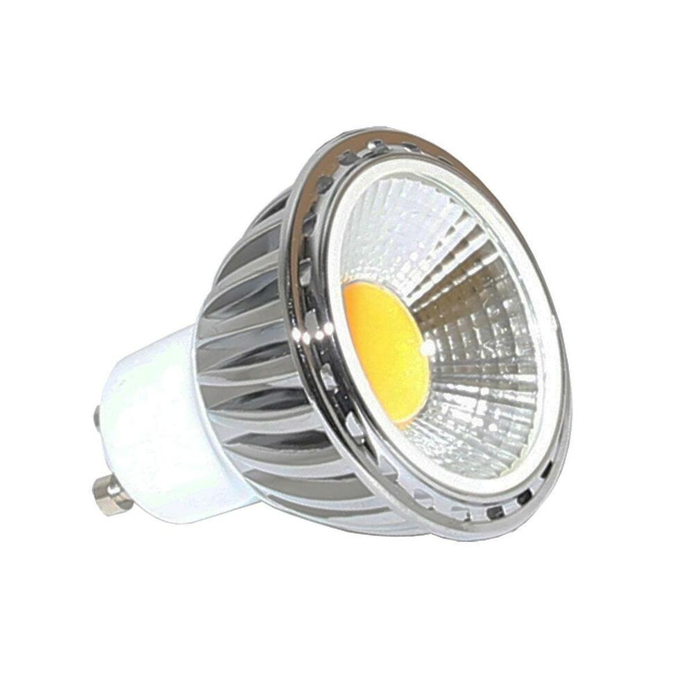 led gu10 5w cob ceiling spot down light energy saving bulb dimmable option ebay. Black Bedroom Furniture Sets. Home Design Ideas