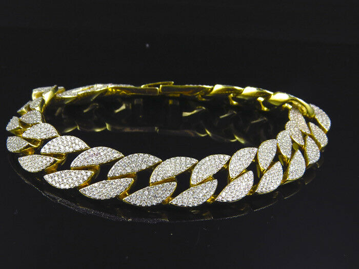 Yellow Gold Over Sterling Silver Icy Simulated Diamond