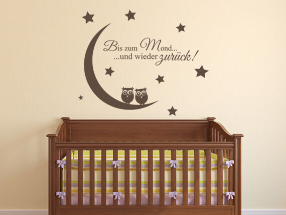 wandtattoo kinderzimmer bis zum mond und wieder zur ck. Black Bedroom Furniture Sets. Home Design Ideas