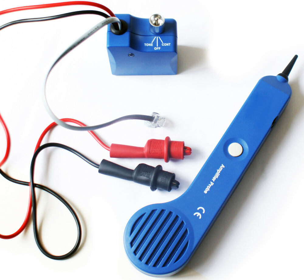 Toner Amp Probe Cable Wire Wall Finder Tracker Tracer Bt