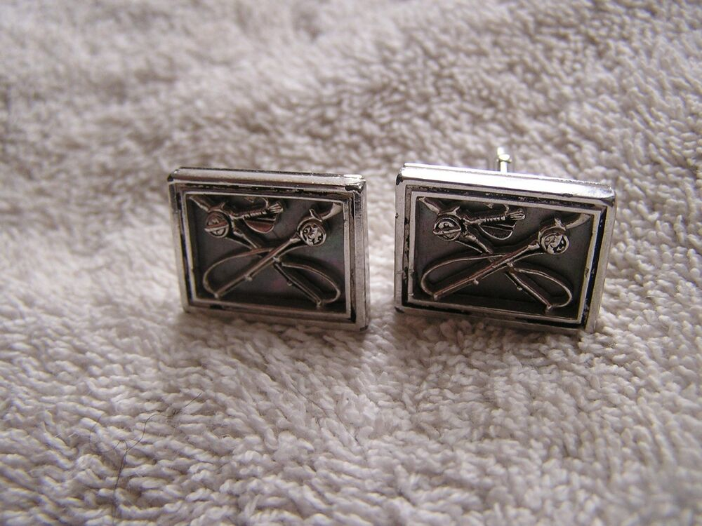 Vintage swank cufflinks with fly fishing poles ebay for What is swank jewelry