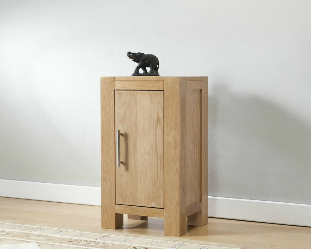 Solid Wood Chunky Oak One Door Cupboard Cabinet Ebay