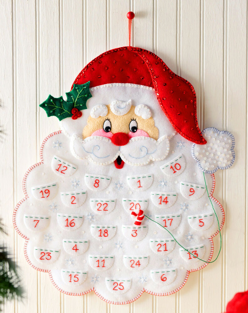 Christmas Calendar 2014 : Bucilla santa s beard felt christmas advent calendar kit