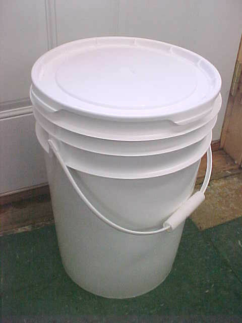 6 Gallon Buckets Pail Pails Bucket With Lid No 5 Gal In
