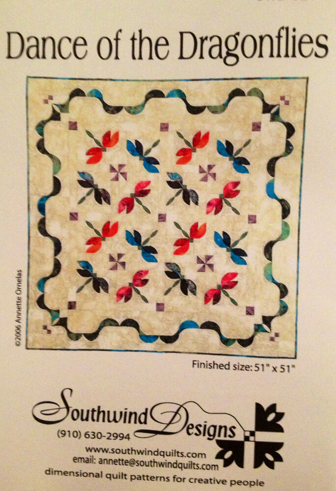 New Dance Of The Dragonflies Pieced Quilt Pattern